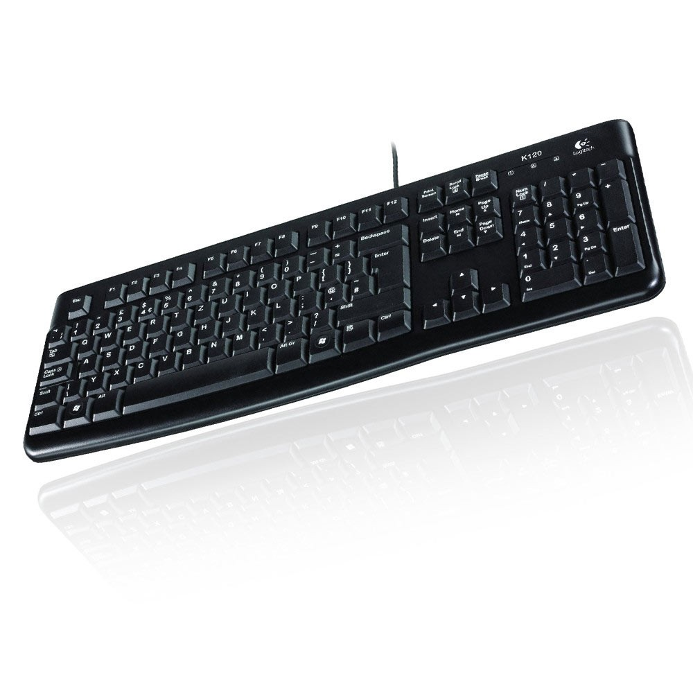 logitech keyboard k120 qwertz tastatur deutsch oem usb. Black Bedroom Furniture Sets. Home Design Ideas
